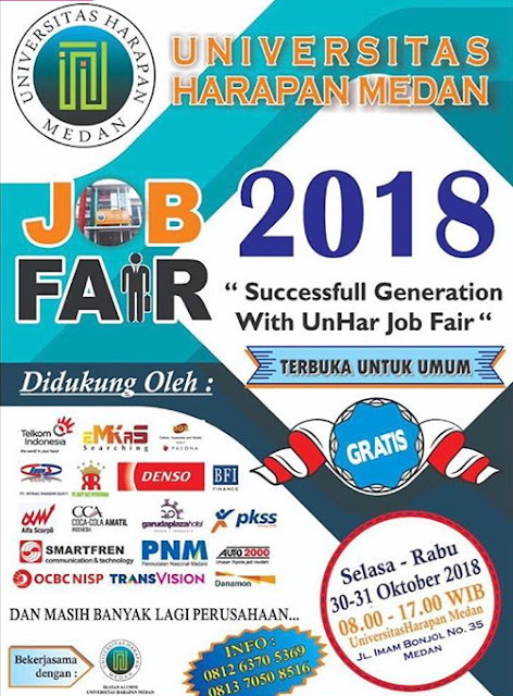 Bursa Kerja / Job Fair Medan (Gratis)