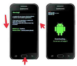 Cara masuk mode download samsung galaxy J1 SM-J100H