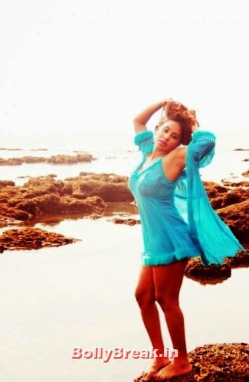 Srilekha Reddy Hot Pics In Wet Nighty On Beach - 7 Pics-2225