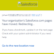 Your Organization's Salesforce.com pages has moved