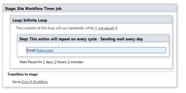 Workflow Timer job