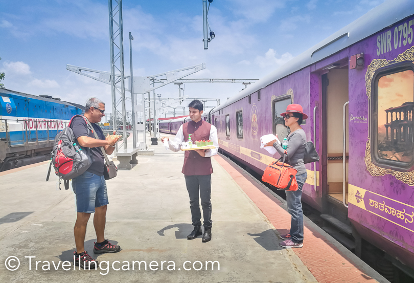 Explore top tourist places in Karnataka without worrying about stay, food, commute and packing/unpacking everyday - Day-wise Itinerary of exceptionally luxury exploration with Golden Chariot Train