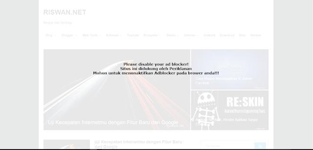 Script Anti Adblock Ampuh Untuk Blogger