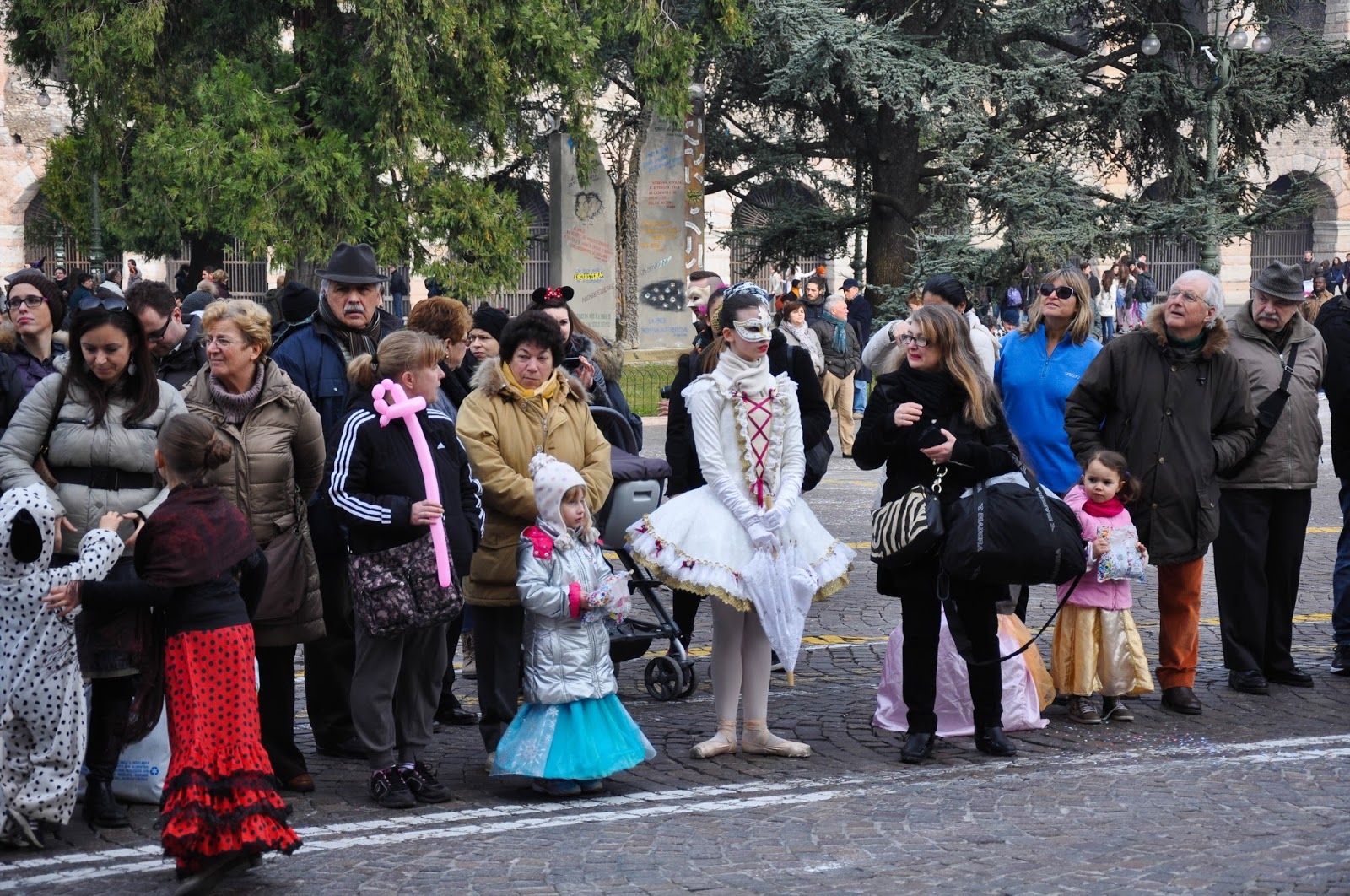 Spectators in masks - Verona Carnival