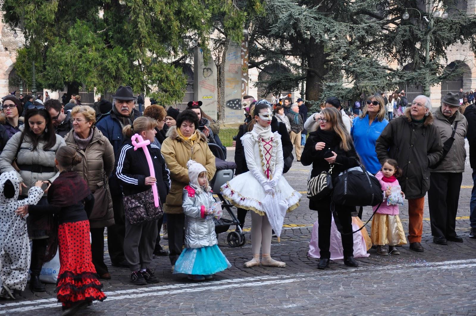 Spectators in masks - Verona Carnival