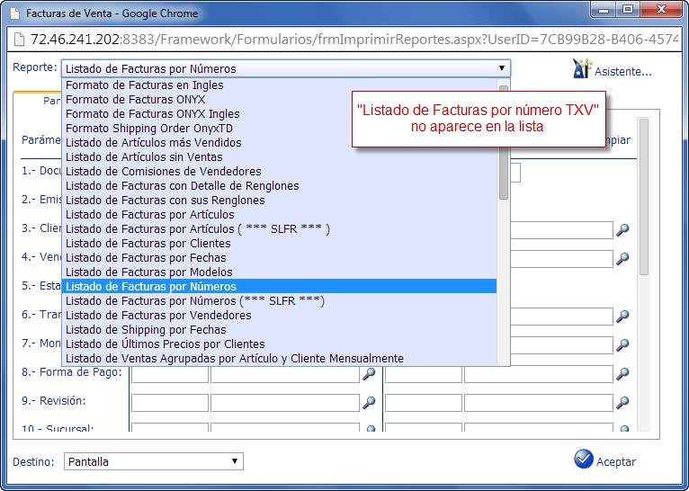 No se encuentra el Reporte - Programación de Reportes en eFactory ERP/CRM, Contabilidad, Nómina