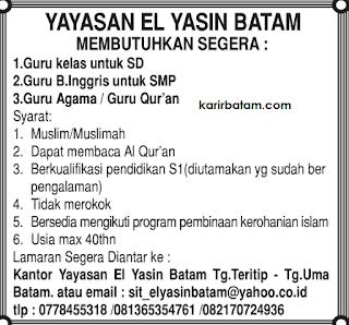 Lowongan Kerja Yayasan El Yasin Batam