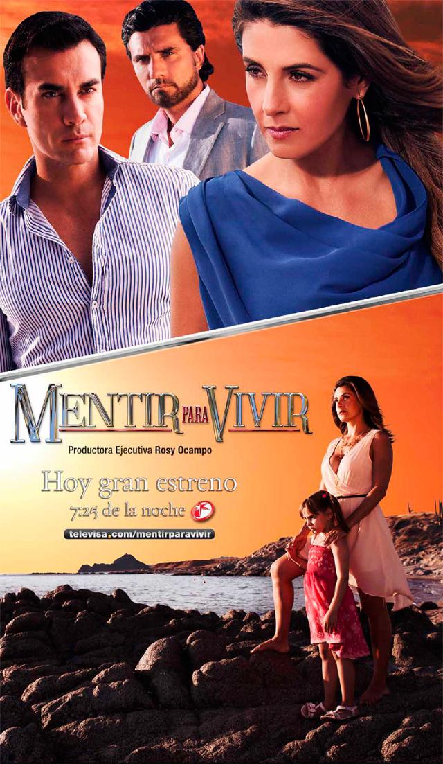 Poster telenovela Mentir para vivir - Más Telenovelas