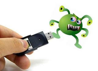 selamatkan flashdisk dari virus