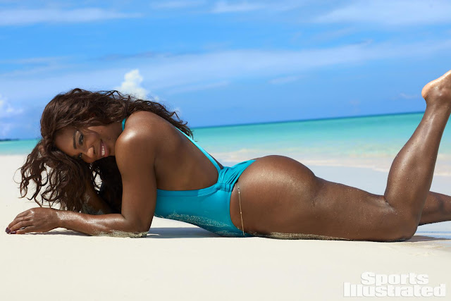 Serena Williams in costum de baie