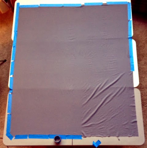 using blue painter's tape as a quilting tool
