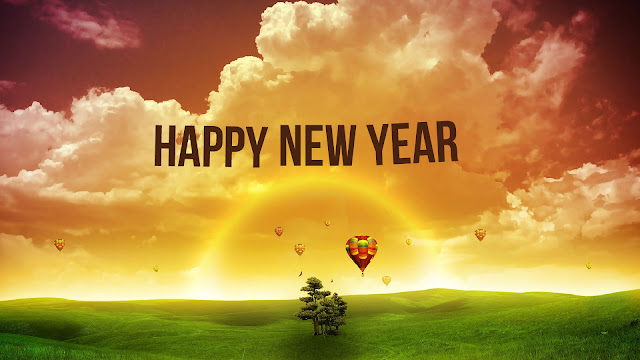 Happy new year 2018 HD colorful wallpapers for desktop