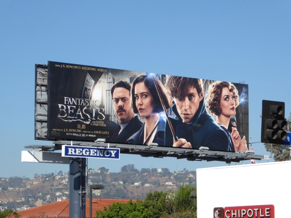 Fantastic Beasts and Where to Find Them film billboard