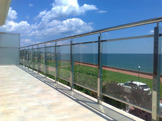 A framed glass fencing for a terrace