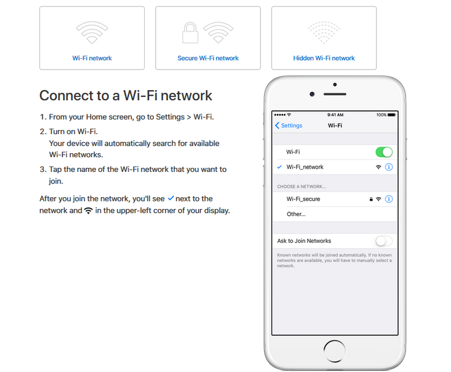 how to join wifi on iphone
