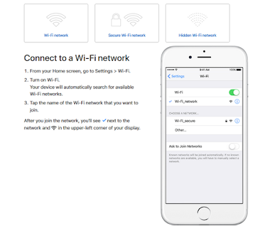 iPhone 8 Wifi setup