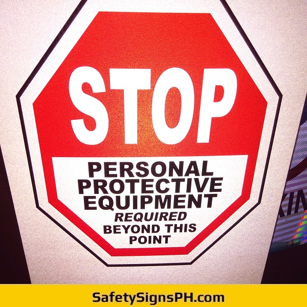 Reflectorized PPE Signage Philippines
