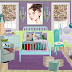 Vintage Blue and Purple Girls bedroom