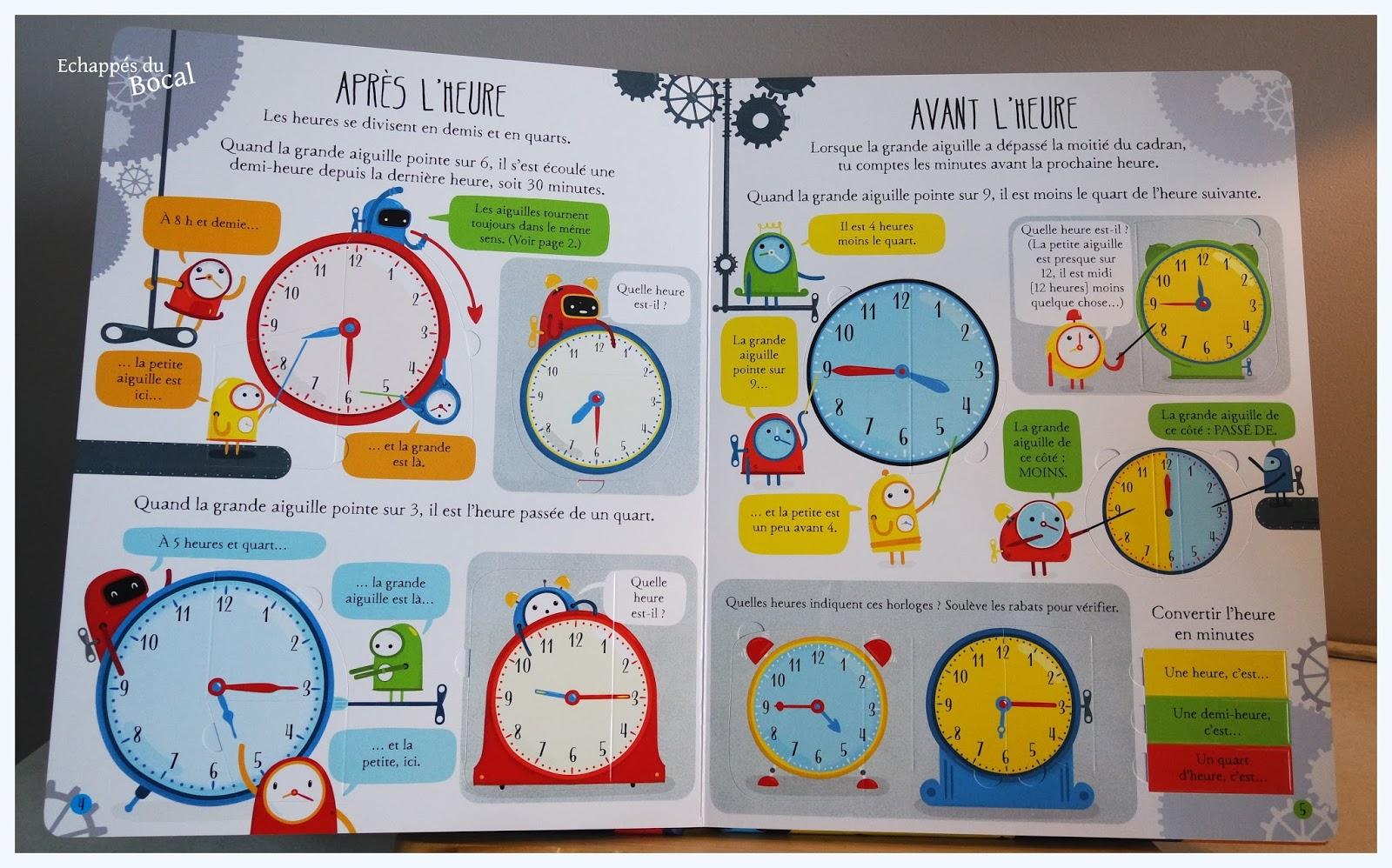 echapp s du bocal un livre pour apprendre lire l 39 heure aux enfants. Black Bedroom Furniture Sets. Home Design Ideas