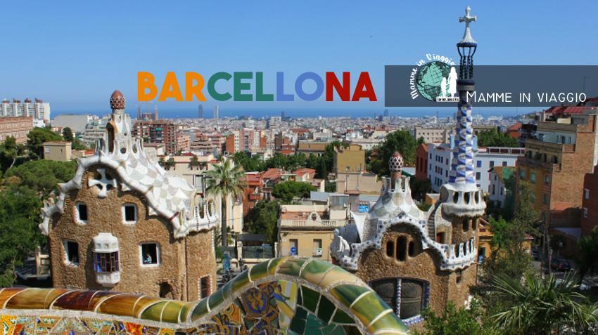 Barcellona in auto coi bambini