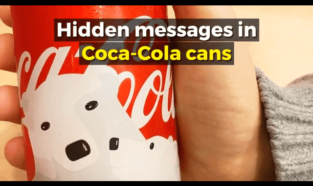 Hidden Messages in Coca Cola Cans