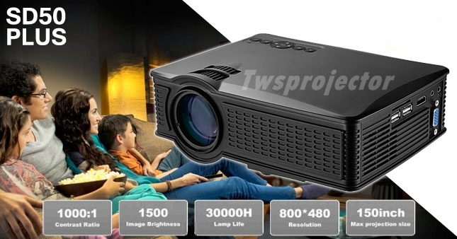 MINI PROJECTOR SD50 PLUS (ALL IN ONE) 1500 Lumens  3,500 B