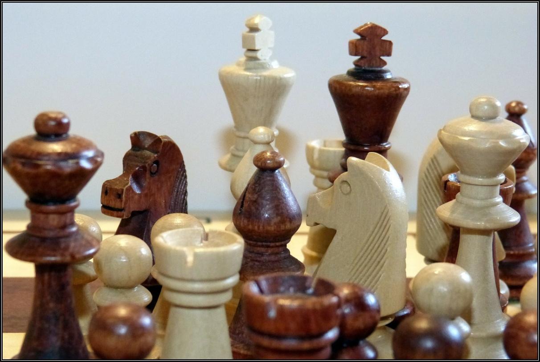 Fichas de ajedrez hechas de madera de boj