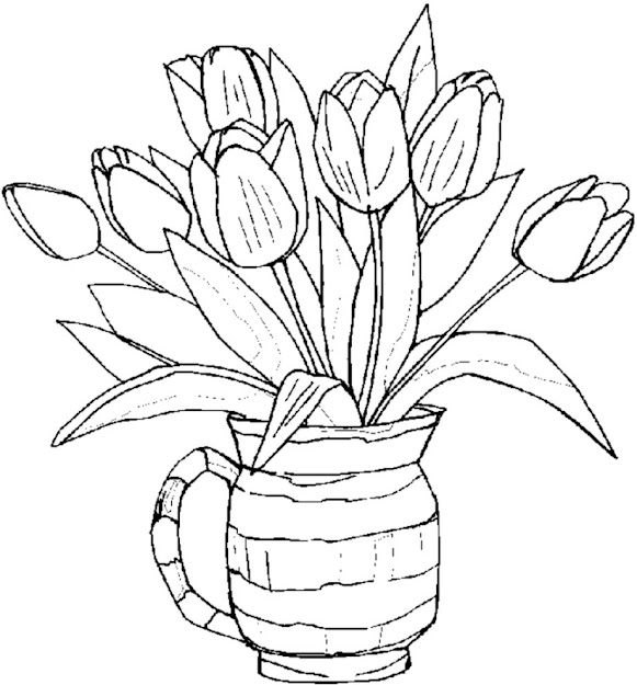 Coloring Pages Printable Flower  Flowers Coloring Sheets Printable Coloring  Picture To Download