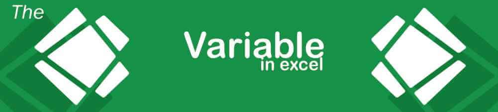 variabel dalam excel