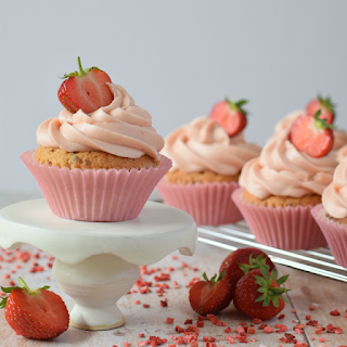 Final Composition of Strawberry Cupcakes