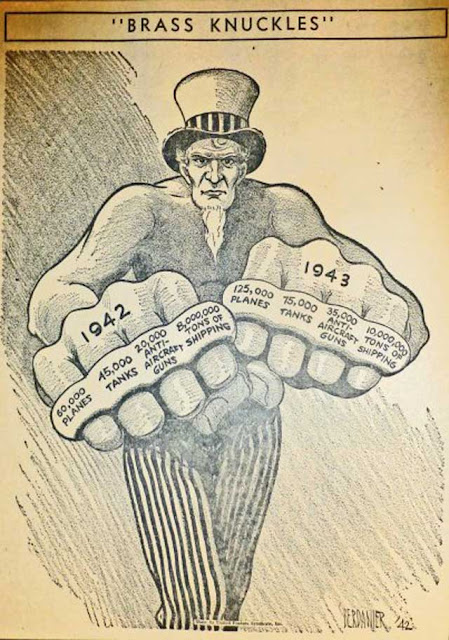 Uncle Sam Brass Knuckles cartoon, 14 January 1942 worldwartwo.filminspector.com