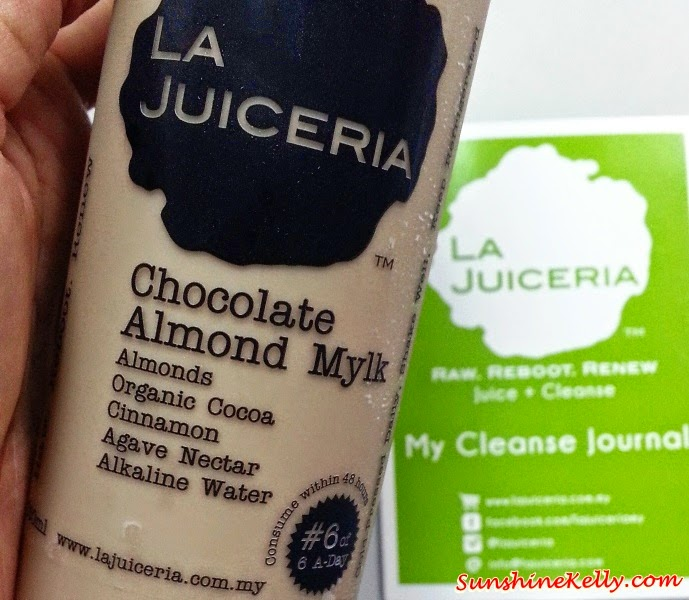 Chocolate Almond Mylk, La Juiceria Cleanse Program, detox program, juice detox, juice diet, juice fasting
