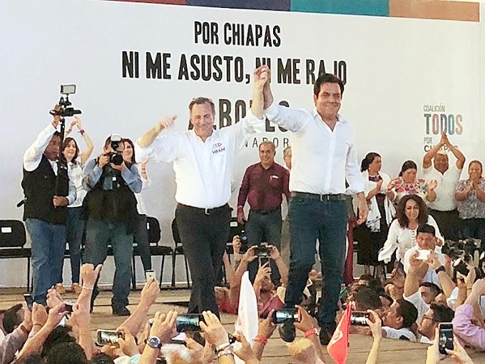 """Meade ofrece hacer """"una potencia"""" de Chiapas, un estado sumido en el atraso y con décadas de gobiernos priistas"""