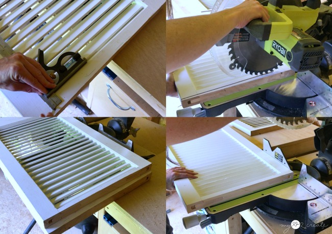 cutting shutters down to build a desk
