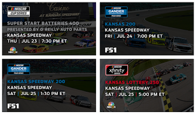 Week of Kansas Speedway, July 20-25, 2020 #NASCAR #ARCA