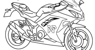 Martias Db21 Mewarnai Gambar Motor Ninja