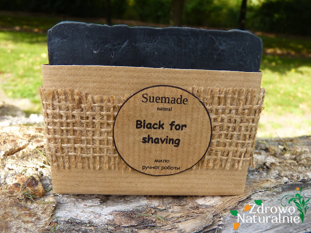 Suemade - Czarne mydło do golenia z węglem bambusowym