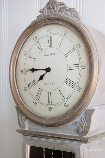 Chalk-finish Paint Clock Diy - French Country Cottage