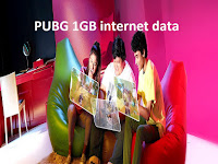 PUBG 1GB internet data pack for 30 days