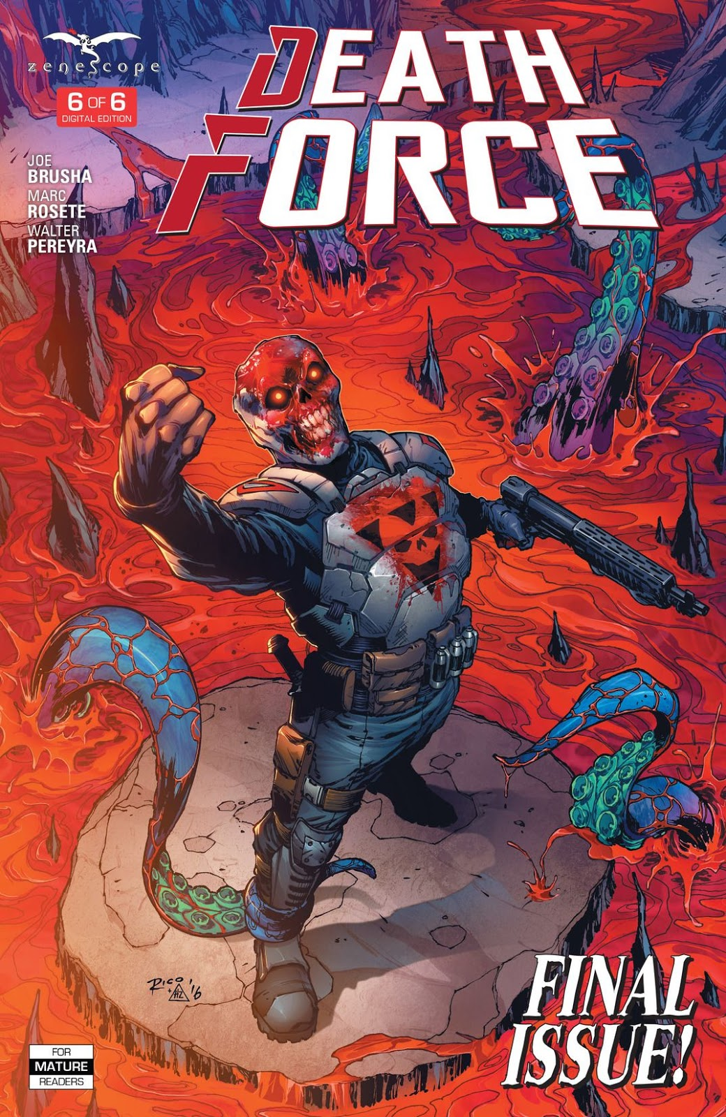 Death Force #1 1A cover ~ Zenescope comic