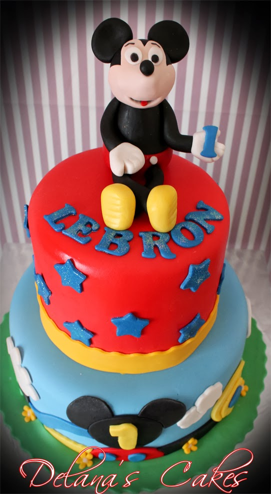 Delana S Cakes 2 Tier Mickey Mouse Clubhouse Cake