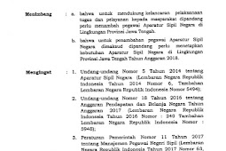Formasi Lowongan CPNS Jawa Tengah (Jateng) 2018
