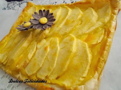 Hojaldre de manzana con crema pastelera