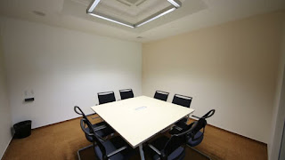 Empty meeting table