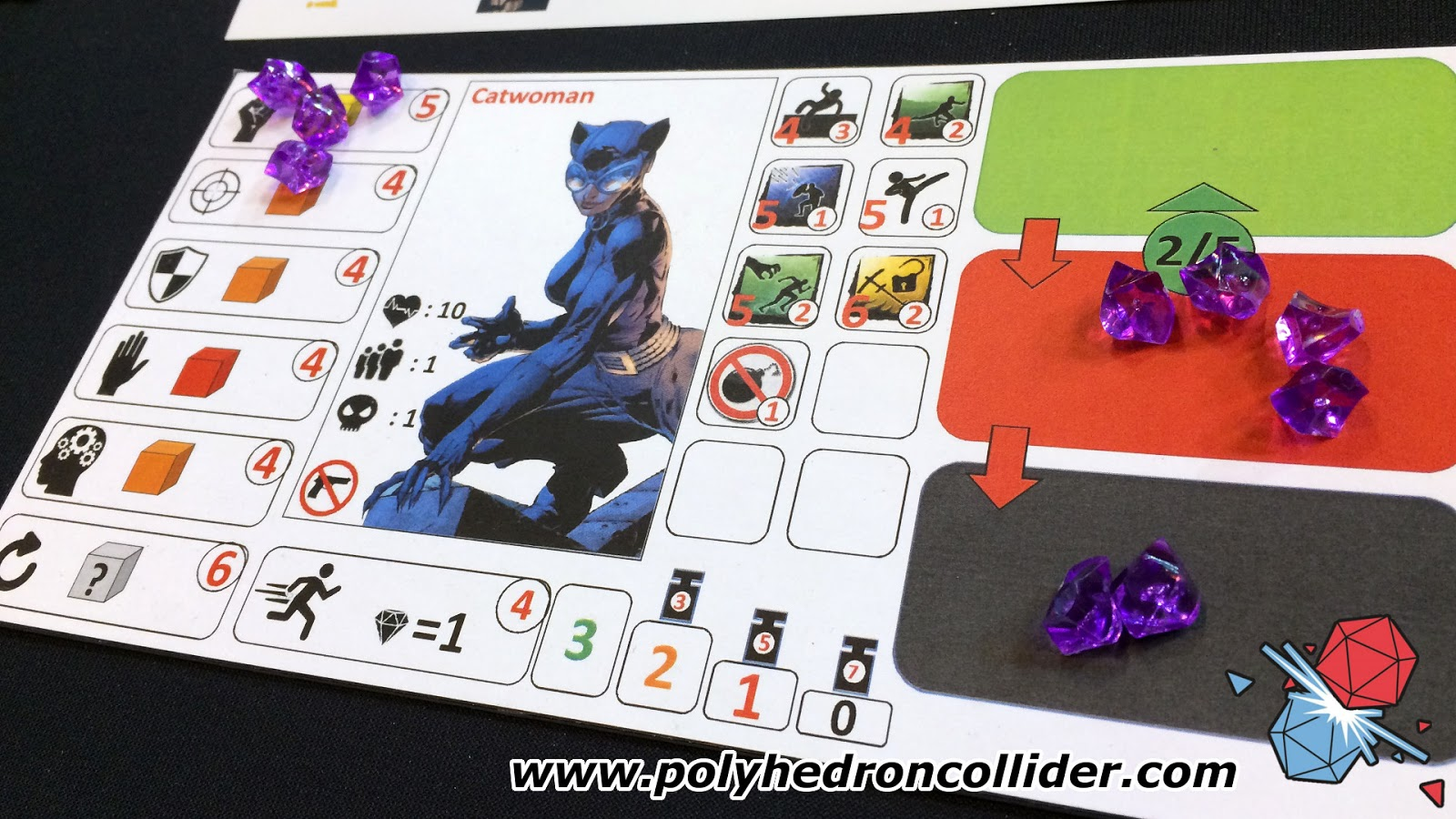 Batman the Boardgame Catwoman character sheet