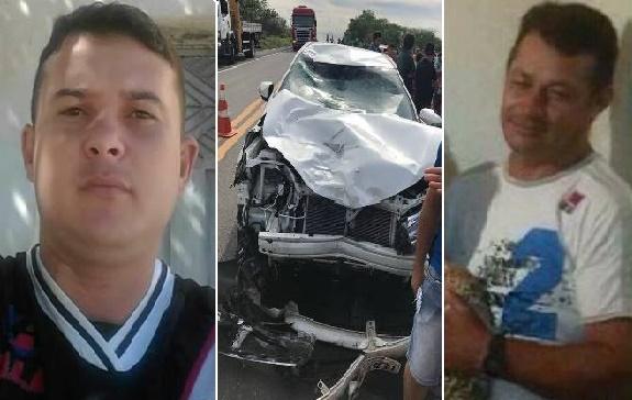Acidente envolvendo moto e carro na BR-230 no distrito Divinópolis em Cajazeiras deixa dois homens mortos
