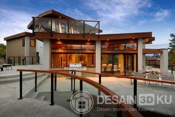 Rumah Mewah di Perbukitan Dengan Keindahan Taman Tropis