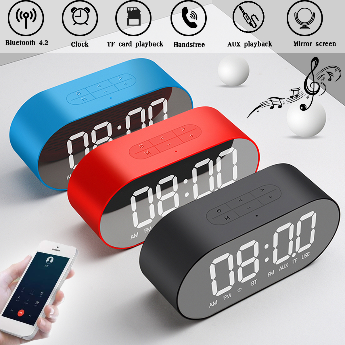 New Fashion Aneng Lcd Digital Date Alarm Clock Snooze Thermometer Table Desktop With Night Light Aromatic Flavor Temperature Instruments