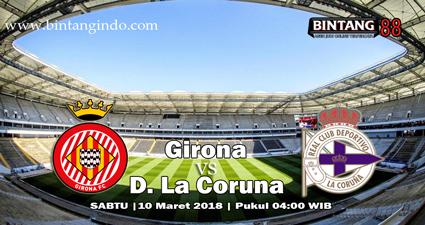 prediksi skor Girona vs D. La Coruna 10 maret 2018