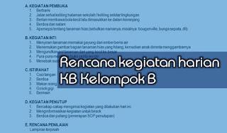 RKH KB Kelompok B Usia 3-4 Tahun Semester 2 Tema 1-8 Kurikulum 2013 Terbaru